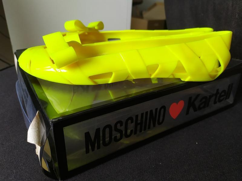Балетки резиновые kartell moschino оригинал - Фото 7