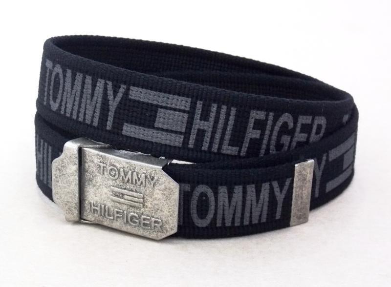 Ремень тканевый для джинс tommy hilfiger + коробка