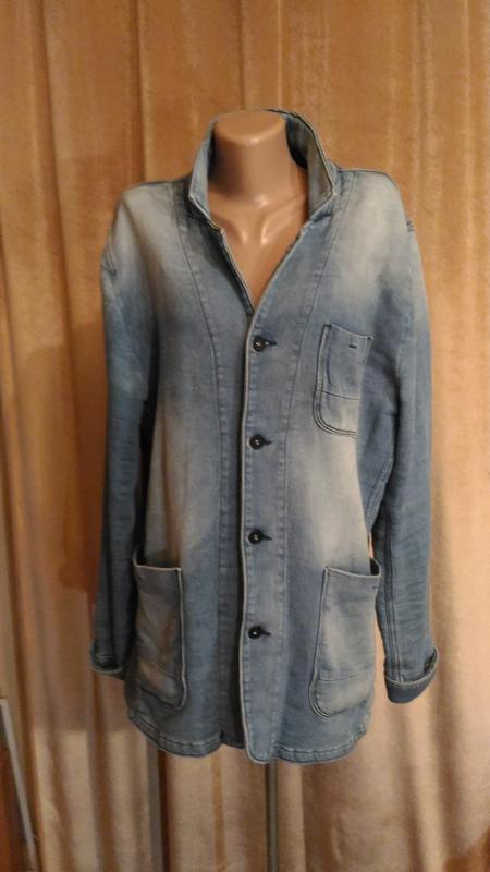 Стильный пиджак кардиган premium denim унисекс, высокий рост р...