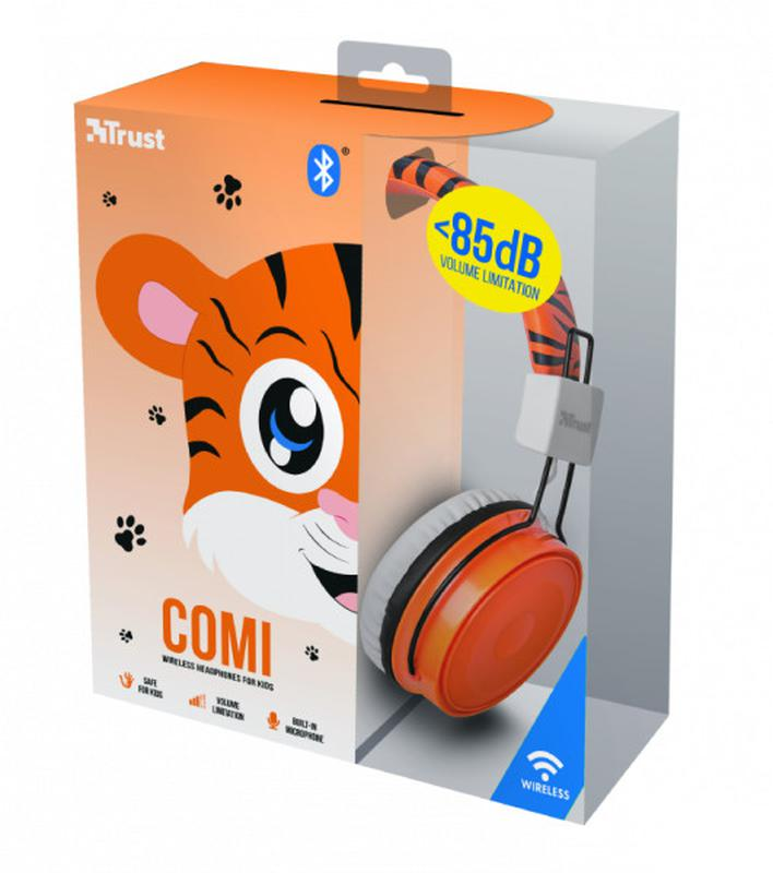 Наушники bluetooth для детей Trust COMI BT KIDS ORANGE - Фото 2