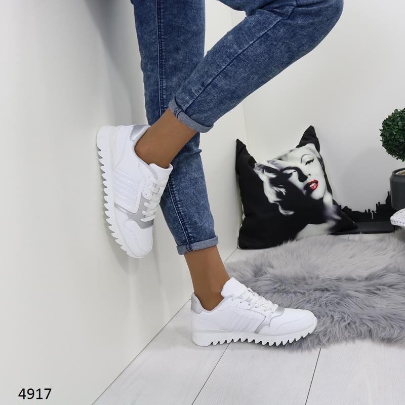 Кроссовки женские белые - Фото 4