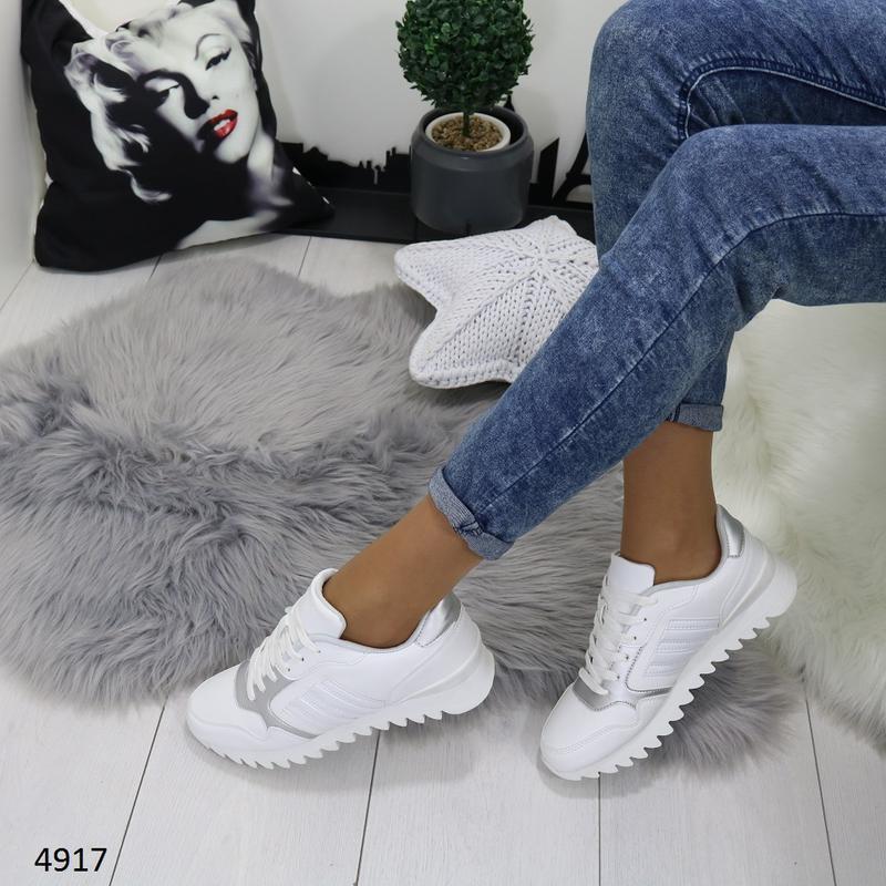 Кроссовки женские белые - Фото 5