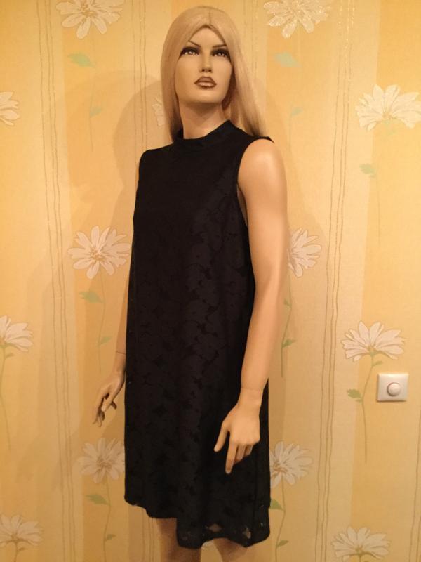 Платье трапеция кружевное ажурное вечернее tu 16 размер