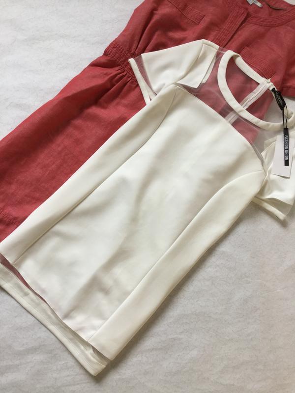 Платье нарядное с вставками из сетки fashion union размер 10