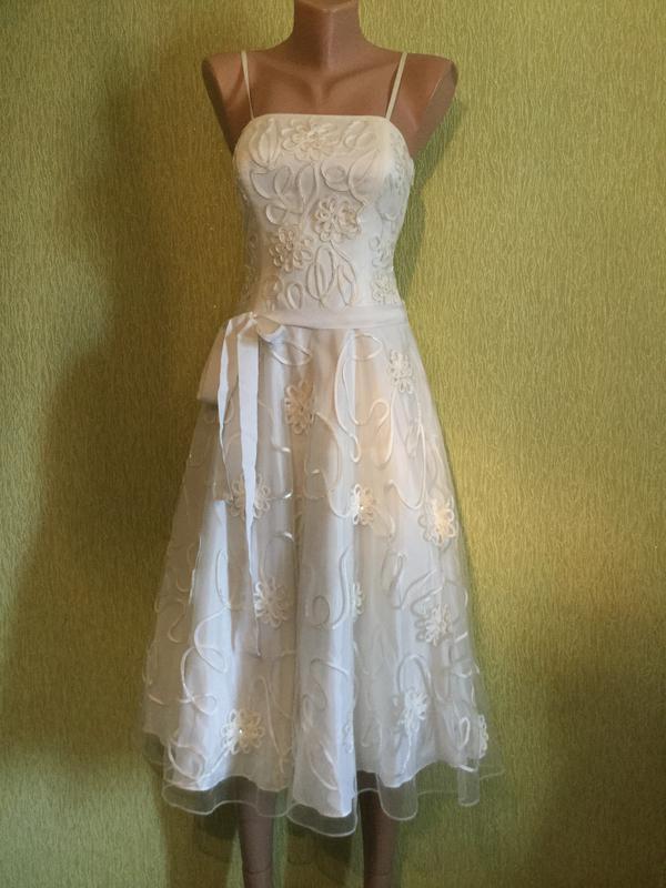 Платье вечернее на выпускной свадебное moonsoon размер s