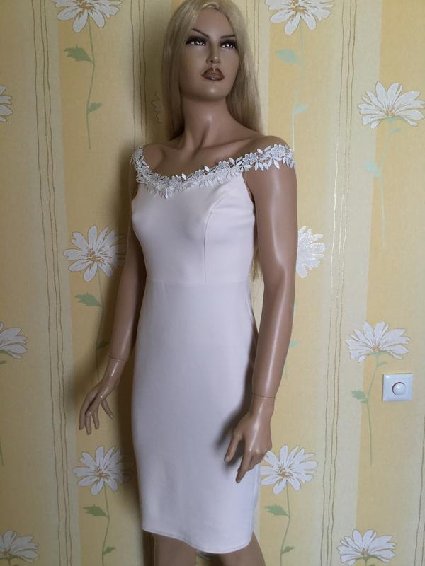 Платье вечернее по фигуре нюдового цвета new look размер 12/14