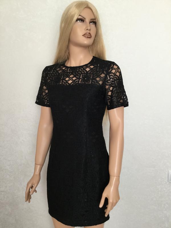 Платье кружевное ажурное boohoo размер 10