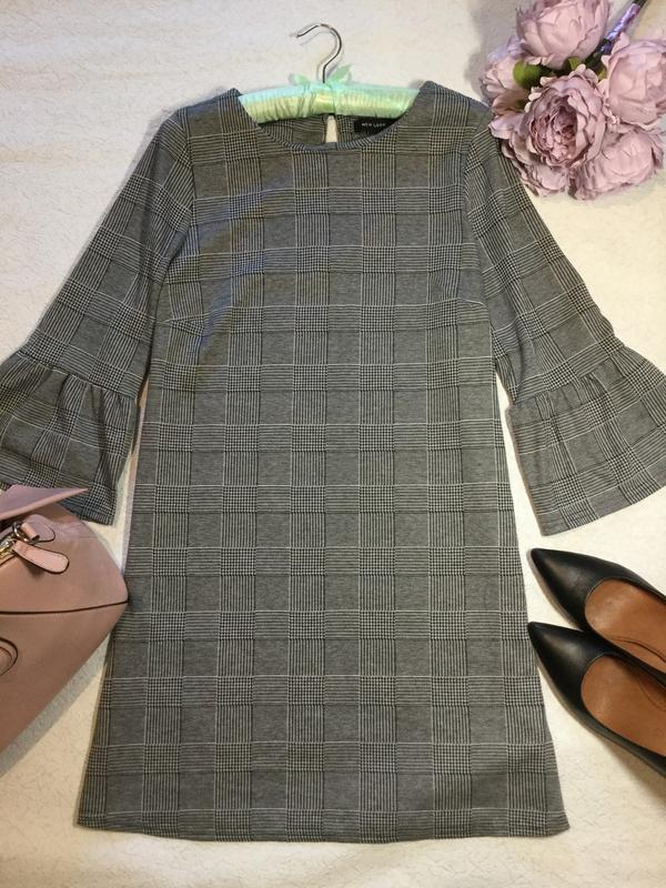 Платье в клетку new look размер 12/14