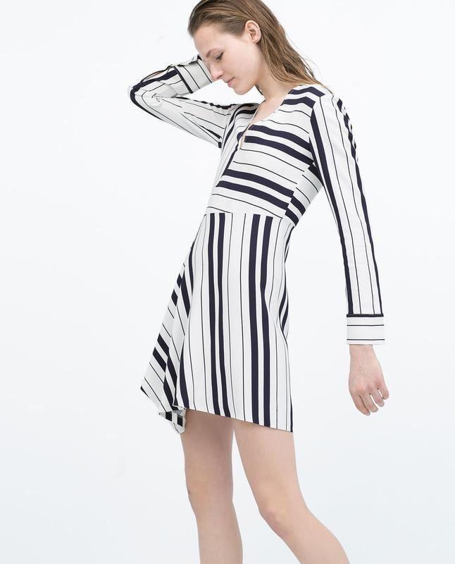 Платье в полоску zara размер s
