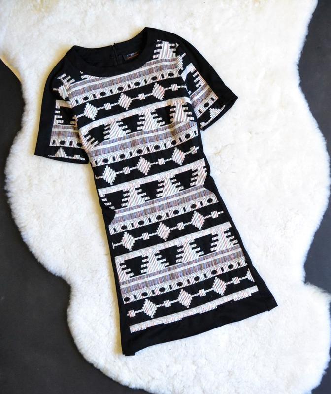 Платье с орнаментом new look размер 8/10