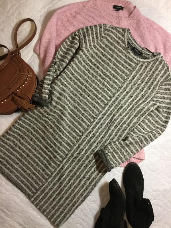 Платье свитшот в полоску new look размер 10/12