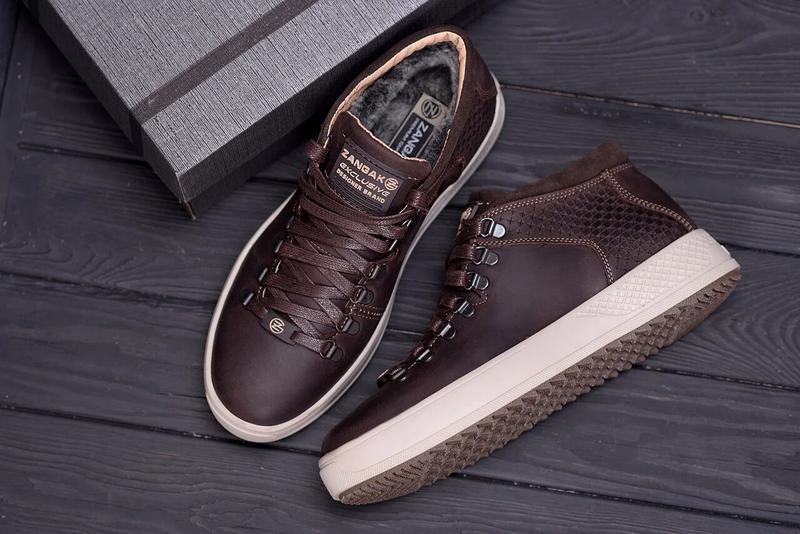 Мужские зимние кожаные ботинки Zangak - Фото 3