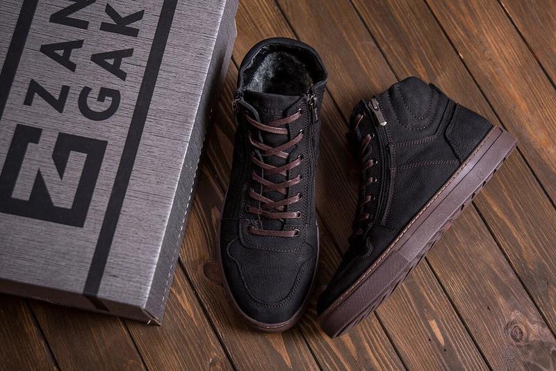 Мужские Зимние Кожаные Ботинки Zangak - Фото 4