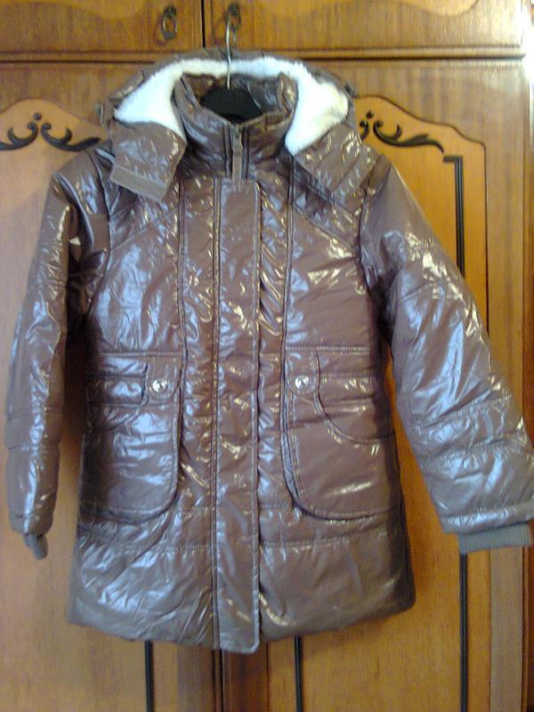 Зимняя куртка, парка, пуховик на синтепоне. рост 146 - 152 см....