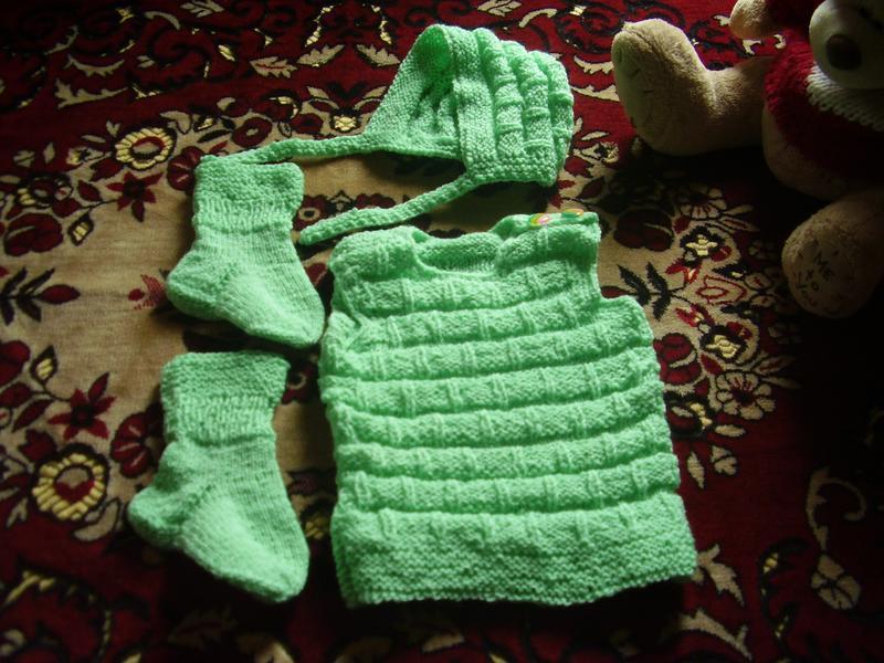 Тёпленький новый костюмчик от бабушки на грудничка от 3 мес - ...