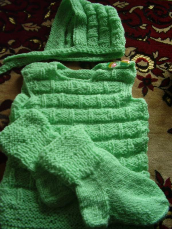 Тёпленький новый костюмчик от бабушки на грудничка от 3 мес - ... - Фото 3