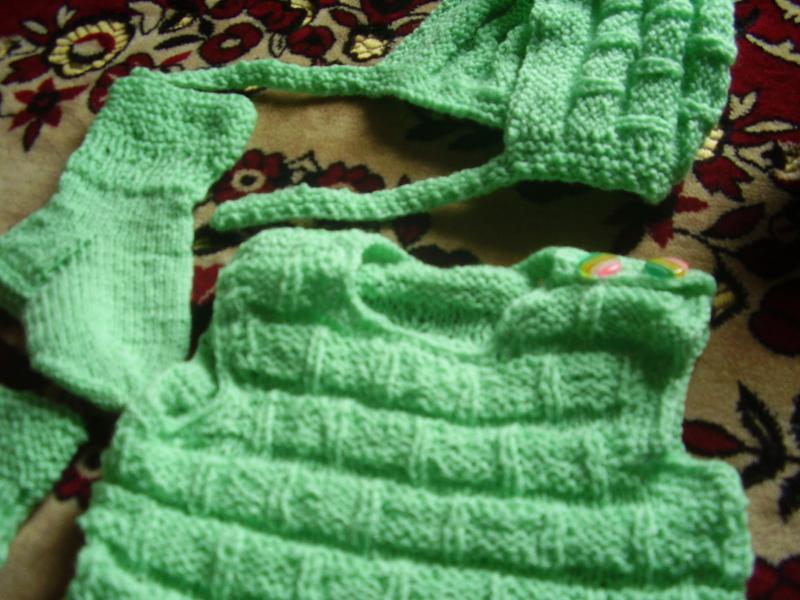 Тёпленький новый костюмчик от бабушки на грудничка от 3 мес - ... - Фото 4