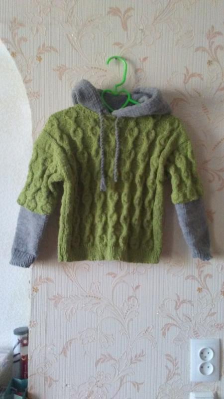 Стильный свитерок на мальчика  от 5 лет полушерсть ручная работа - Фото 3