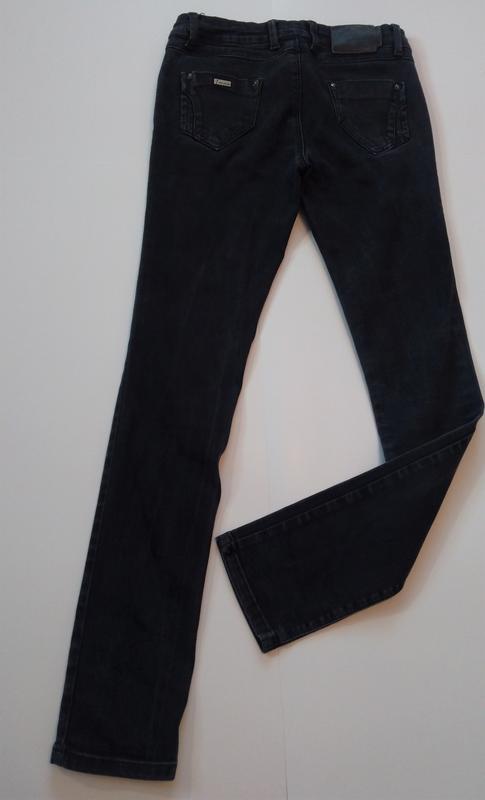 Стрейчевые, темно-серые штаны турция - Фото 3