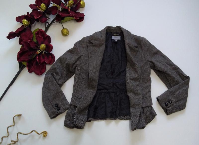 Кашемировый серый пиджак на пуговицах размер 40 - Фото 4