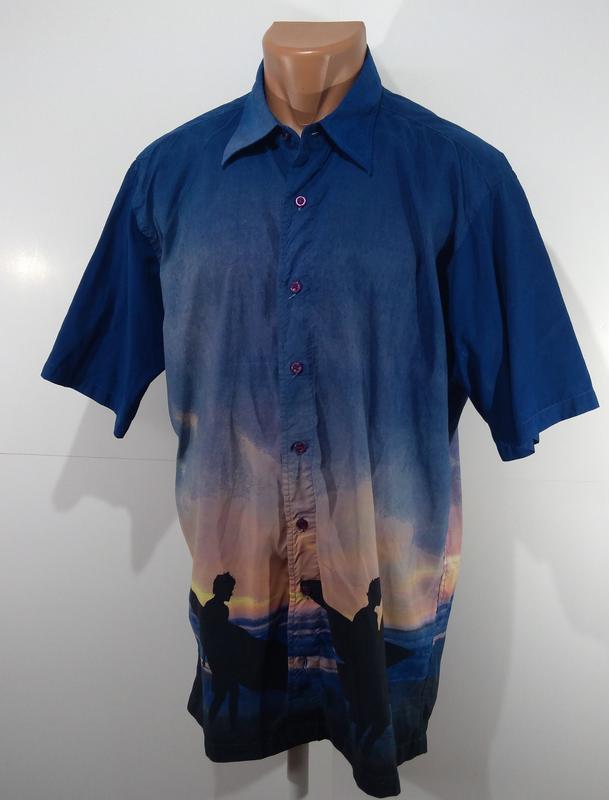Рубашка мужская angelo litrico размер l - Фото 2