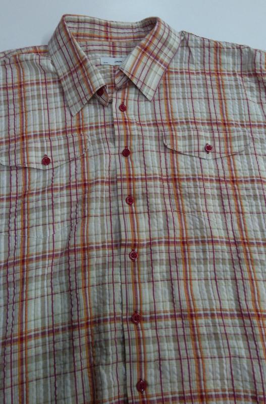 Рубашка мужская jacks в клетку размер xxl - Фото 4