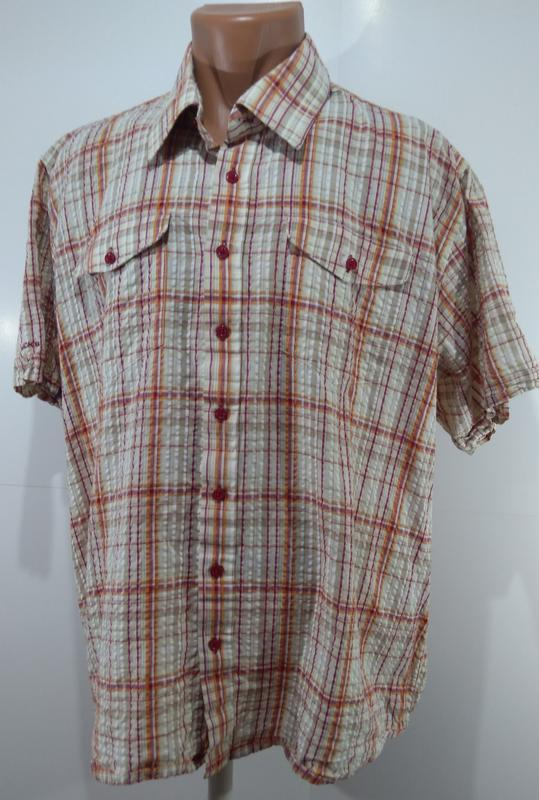 Рубашка мужская jacks в клетку размер xxl - Фото 7