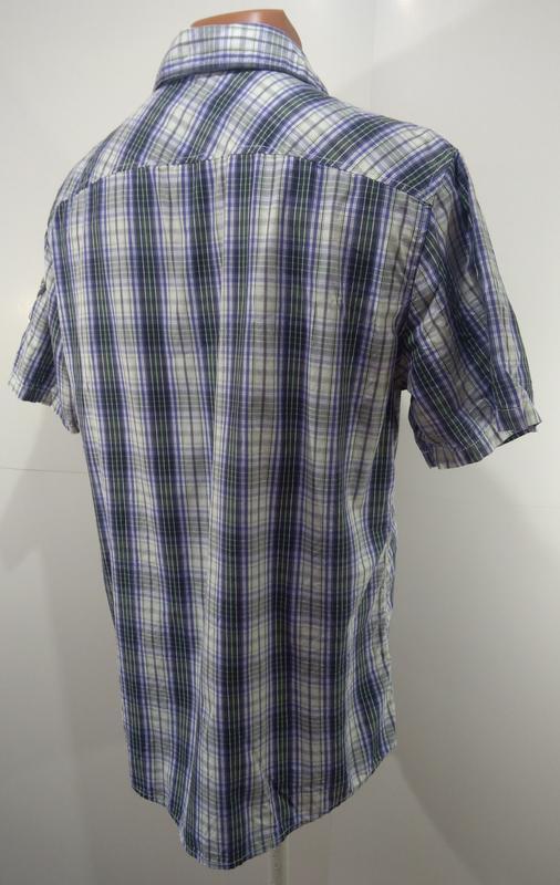 Мужская рубашка размер l ткань 100% коттон - Фото 2