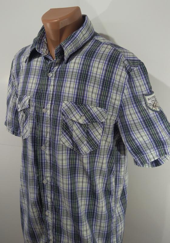 Мужская рубашка размер l ткань 100% коттон - Фото 3