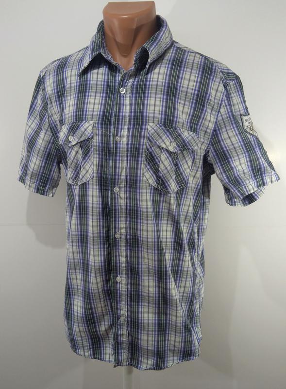 Мужская рубашка размер l ткань 100% коттон - Фото 4