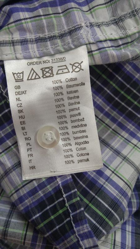Мужская рубашка размер l ткань 100% коттон - Фото 6