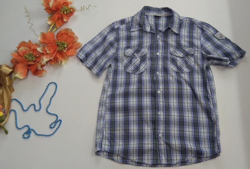 Мужская рубашка размер l ткань 100% коттон - Фото 8