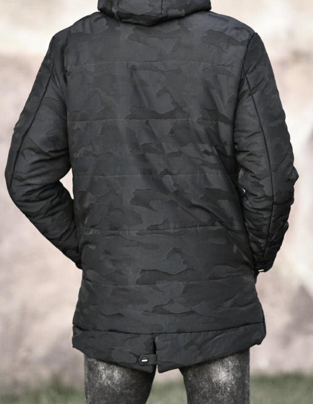 Мужская зимняя куртка в камуфляжный принт , парка см... - Фото 10