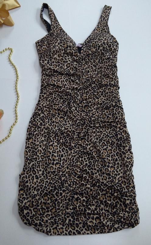 Эластичное платье размер 34 - Фото 4