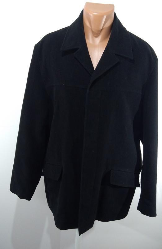 Черный удлиненный пиджак на потайных пуговицах размер 52 - Фото 4
