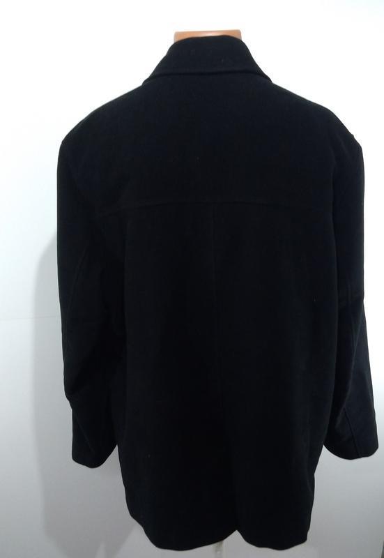 Черный удлиненный пиджак на потайных пуговицах размер 52 - Фото 5