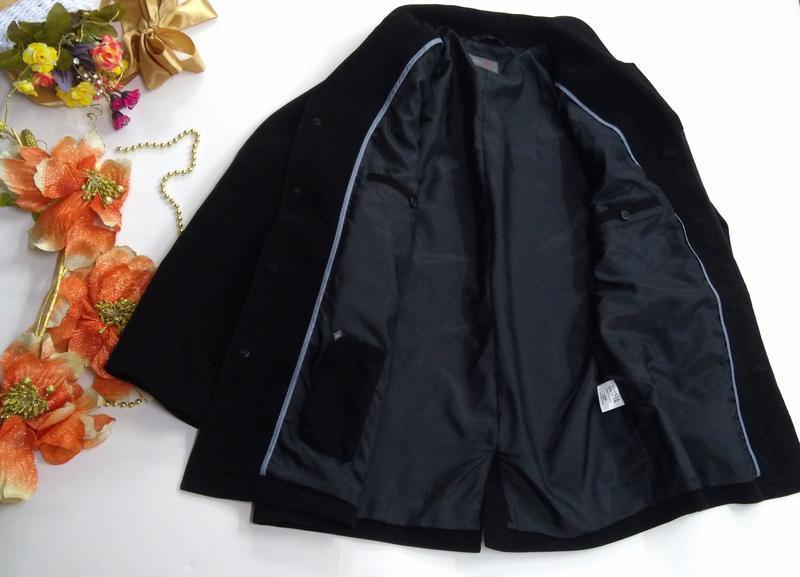 Черный удлиненный пиджак на потайных пуговицах размер 52 - Фото 6