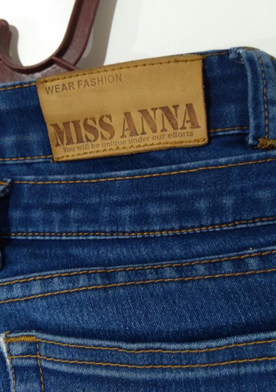 Эластичные зауженные джинсы miss anna размер 38 - Фото 2