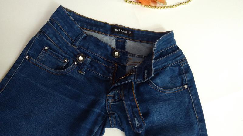 Эластичные зауженные джинсы miss anna размер 38 - Фото 4