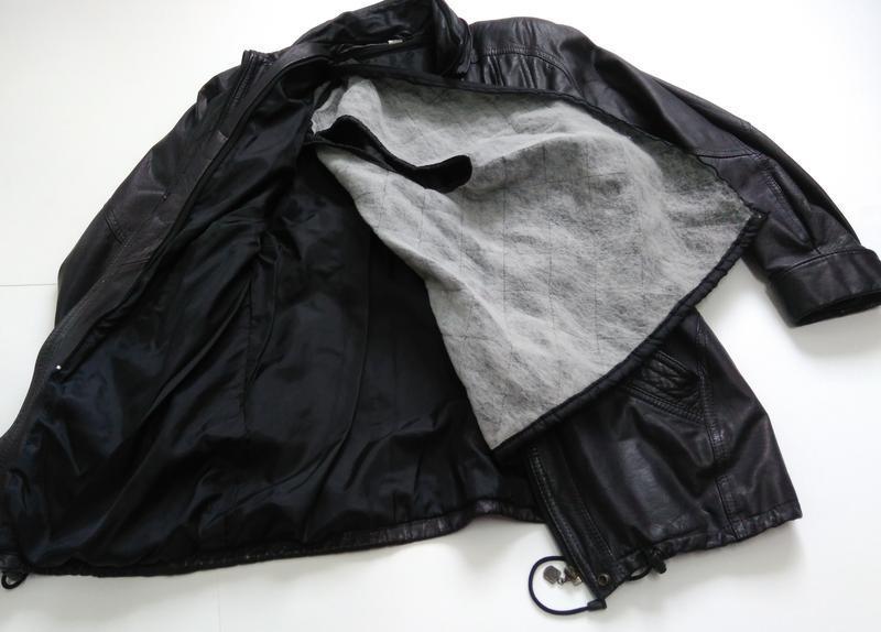 Кожаная куртка  размер 48-50 - Фото 3