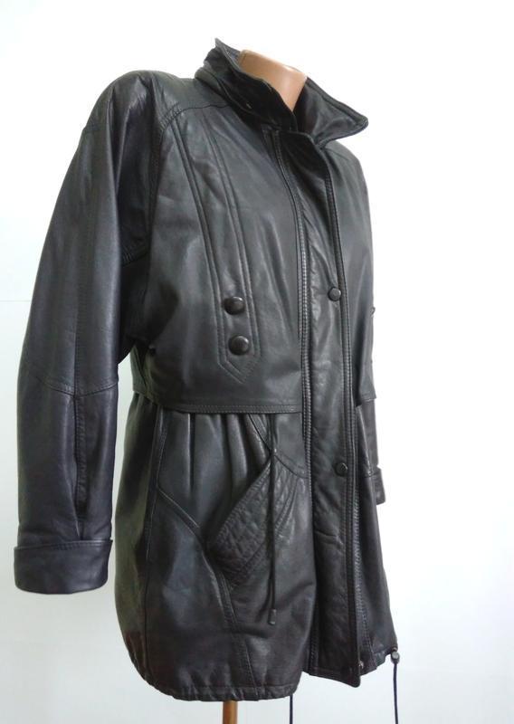 Кожаная куртка  размер 48-50 - Фото 9