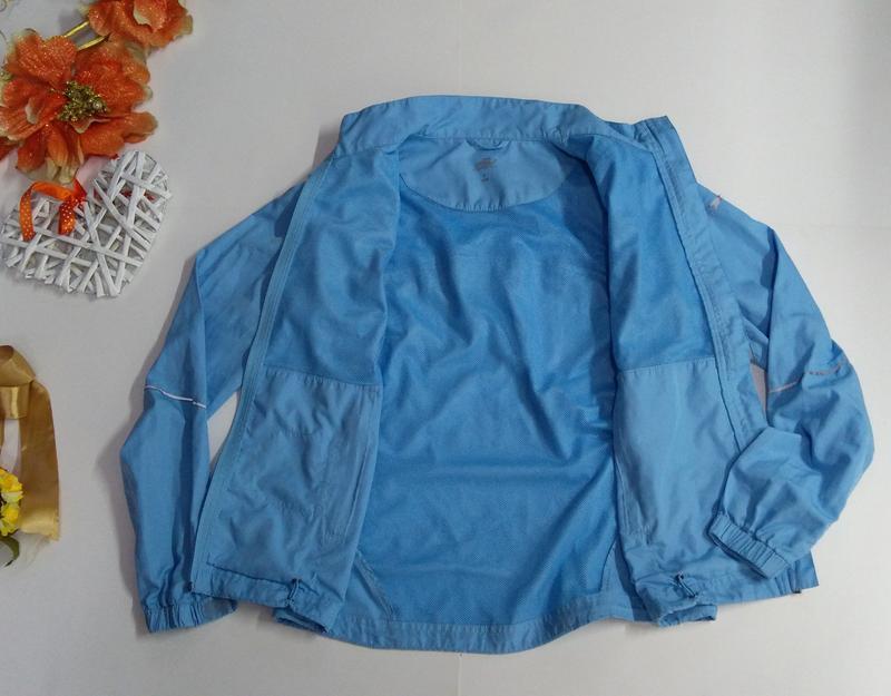 Голубая ветровка + жилетка размер s - Фото 5