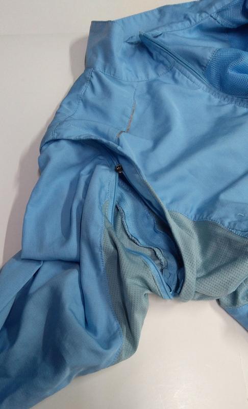 Голубая ветровка + жилетка размер s - Фото 7
