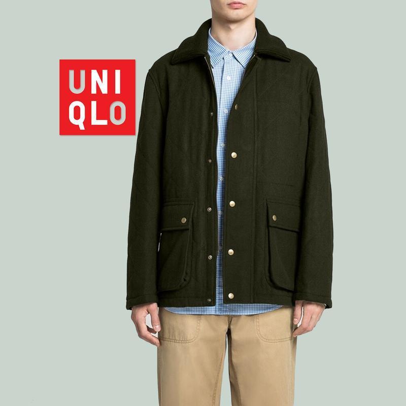 Шерстяное пальто куртка uniqlo + jw anderson