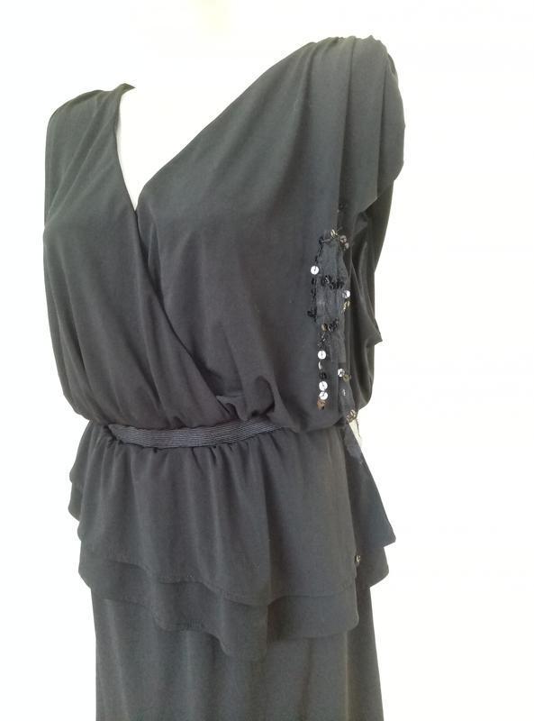 Стильное трикотажное платье - Фото 3