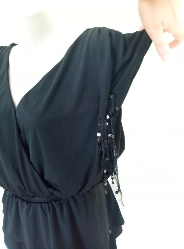 Стильное трикотажное платье - Фото 4
