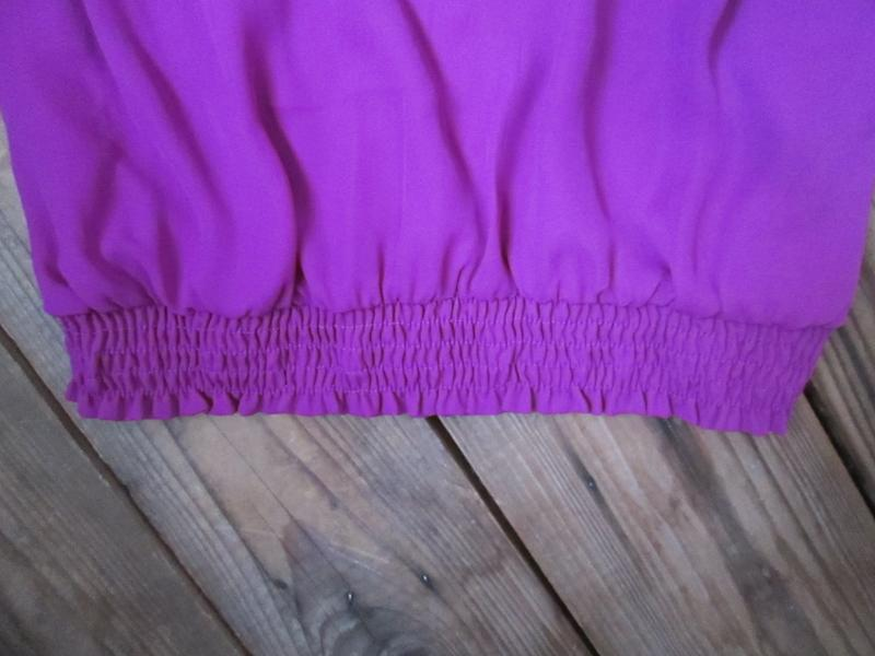 Красивая легкая блуза bns с жабо внизу на резинке, р. 14 - Фото 4