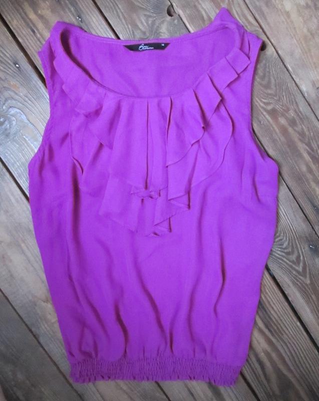 Красивая легкая блуза bns с жабо внизу на резинке, р. 14 - Фото 7