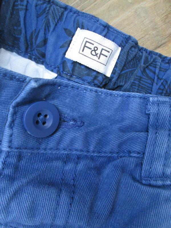 Котоновые шорты шортики f&f на 2-3 г., состояние отличное - Фото 2