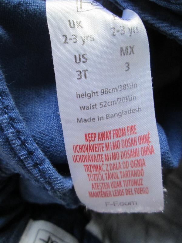 Котоновые шорты шортики f&f на 2-3 г., состояние отличное - Фото 3